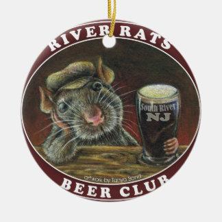 River Rats Beer Club Ceramic Ornament