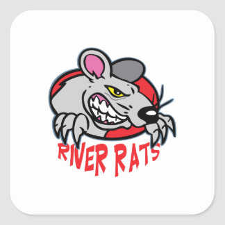 RIVER RATS SQUARE STICKER