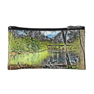 River Reflections Bagettes Cosmetic Bag