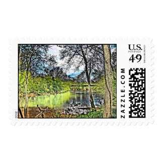 River Reflections Postage Stamps