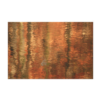 River Reflections Two Stretched Canvas Print
