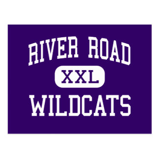 River Road - Wildcats - High - Amarillo Texas Postcard