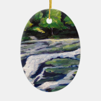 River Rock Christmas Tree Ornaments