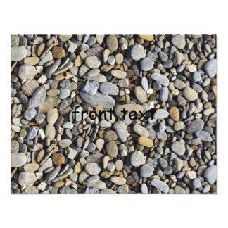 River Rock (Cobblestones) Background 4.25x5.5 Paper Invitation Card