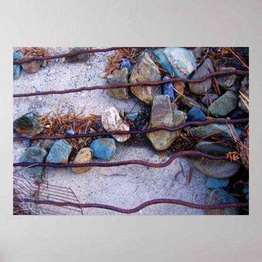 River Rock Composition Poster