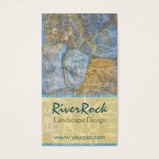 River Rock Landscape Design Business Card