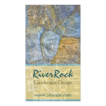 River Rock Landscape Design Business Card profilecard
