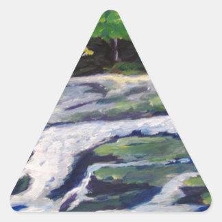 River Rock Triangle Stickers