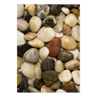 River Rock Stone Background - Customized Template Large Business Cards (Pack Of 100)
