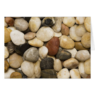 River Rock Stone Background - Customized Template Card