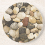 River Rock Stone Background - Customized Template Drink Coaster