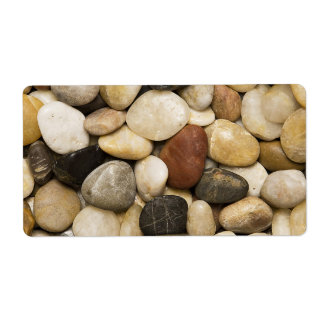 River Rock Stone Background - Customized Template Label