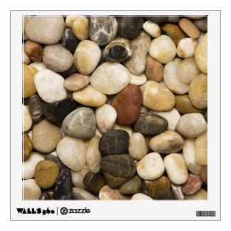 River Rock Stone Background - Customized Template Wall Decal