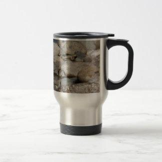 River rocks 15 oz stainless steel travel mug