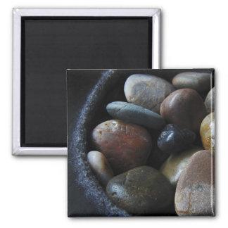 River Rocks 2 Inch Square Magnet