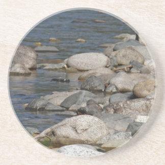 River rocks drink coaster