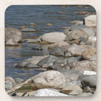 River rocks beverage coasters
