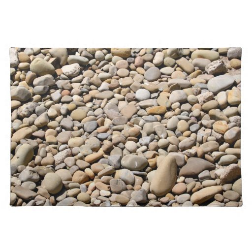 River Rocks Pebbles Cloth Place Mat