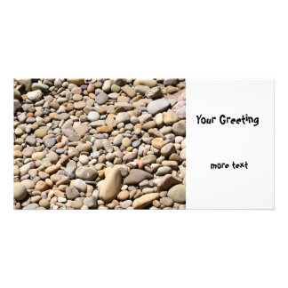 River Rocks Pebbles Personalized Photo Card