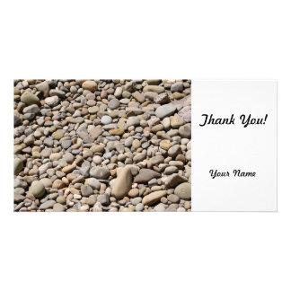 River Rocks Pebbles Customized Photo Card