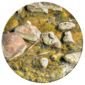 River Rocks Porcelain Plate