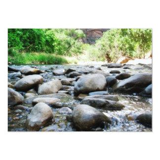 River Rocks @ The Virgin River 5x7 Paper Invitation Card