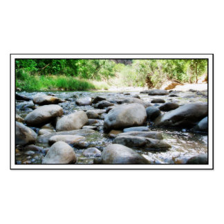 River Rocks @ The Virgin River Business Card Templates