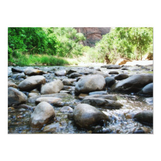 "River Rocks @ The Virgin River 5.5"" X 7.5"" Invitation Card"