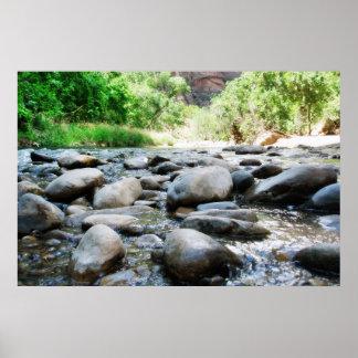 River Rocks @ The Virgin River Print