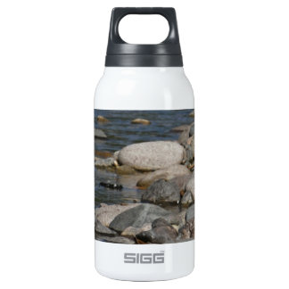 River rocks thermos water bottle