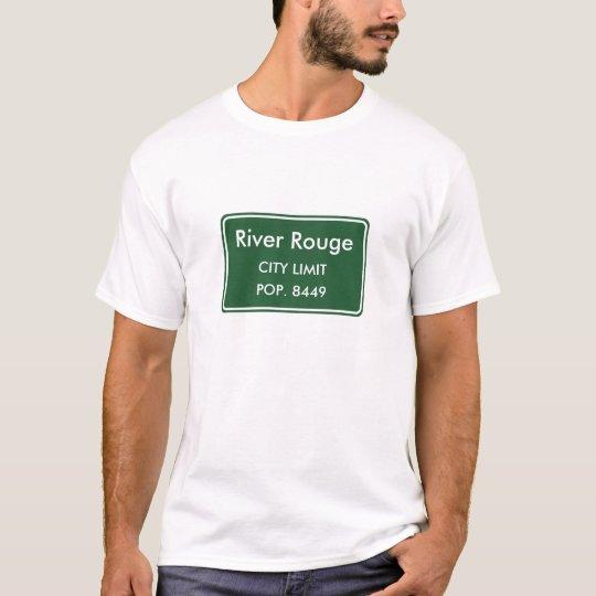 River Rouge Michigan City Limit Sign T-Shirt