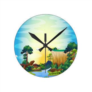 River Round Clock