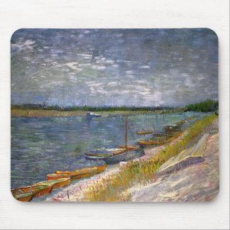 River & Rowing Boats Van Gogh Fine Art Mouse Pad