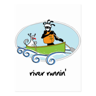 """River Runnin'"" Postcard"