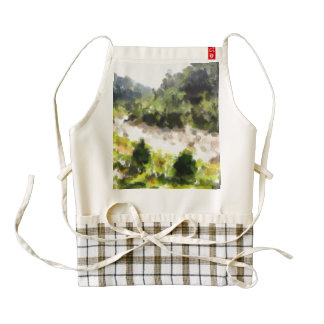 River running through forest zazzle HEART apron