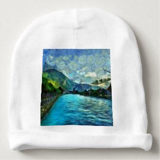 River running through Interlaken Baby Beanie