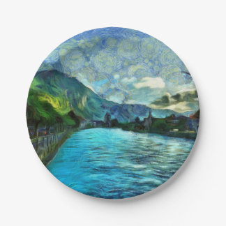 River running through Interlaken Paper Plate