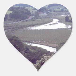 river running through.jpg heart sticker