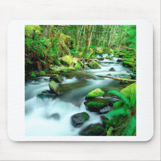 River Runningmount Hood Forest Oregon Mouse Pad
