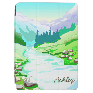 River Runs Through It/Pristine Nature/Personalized iPad Air Cover