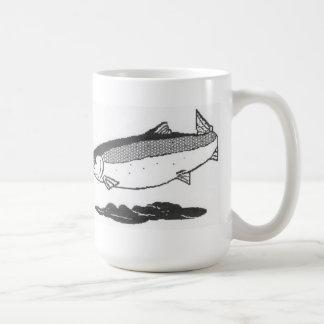 River salmon coffee mug