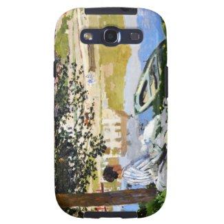 River Scene at Bennecourt, 1868 Claude Monet cool, Samsung Galaxy S3 Case