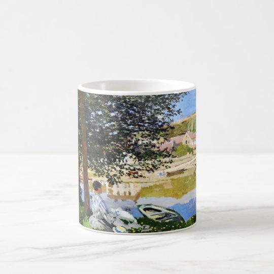 River Scene at Bennecourt, 1868 Claude Monet cool, Coffee Mug
