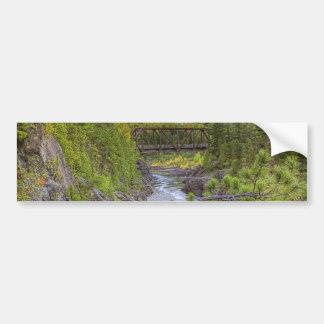 River Scene Bumper Sticker