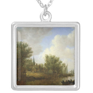 River scene with a View of Overschie, 1651 Jewelry