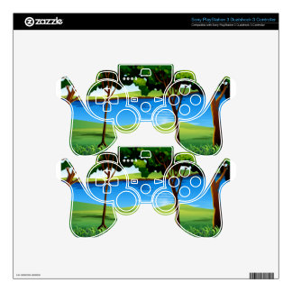 River scene with field and trees skins for PS3 controllers