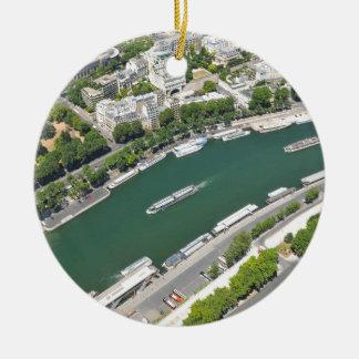 River Seine Ceramic Ornament