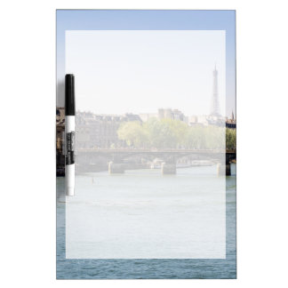 River Seine Eiffel Tower View in Paris, France Dry Erase Board