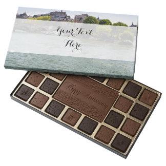 River Seine Ile De La Cite in Paris Photograph 45 Piece Box Of Chocolates