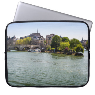 River Seine Ile De La Cite in Paris Photograph Computer Sleeve